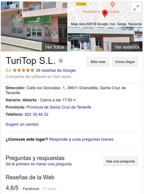 TuriTop Google My Business